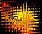 Оранжевый свет за неровным стеклом, иллюстрация № 171025 (c) ElenArt / Фотобанк Лори