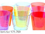 Купить «Пластиковые стаканы, макро», фото № 171769, снято 10 января 2008 г. (c) Угоренков Александр / Фотобанк Лори