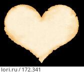 Купить «Лист старой бумаги в форме сердца», иллюстрация № 172341 (c) Лукиянова Наталья / Фотобанк Лори