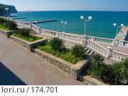 Купить «Дивноморск, набережная», фото № 174701, снято 17 сентября 2004 г. (c) Иван Сазыкин / Фотобанк Лори