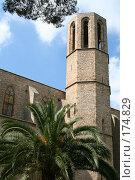 Купить «Стена и башня монастыря Педральбес 14 века в Барселоне», фото № 174829, снято 20 сентября 2005 г. (c) Солодовникова Елена / Фотобанк Лори