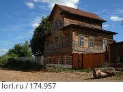 Купить «Деревянный дом. Тула», фото № 174957, снято 21 февраля 2019 г. (c) Елена Прокопова / Фотобанк Лори