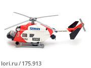 Купить «Игрушечный вертолет, вид сбоку», фото № 175913, снято 5 января 2008 г. (c) Угоренков Александр / Фотобанк Лори