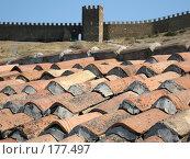 Купить «Крыша цистерны для воды в Судакской крепости (Крым)», фото № 177497, снято 29 августа 2007 г. (c) Татьяна Высоцких / Фотобанк Лори