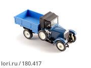 Купить «Коллекционная масштабная модель старинного грузового автомобиля АМО Ф15», фото № 180417, снято 16 января 2008 г. (c) Денис Дряшкин / Фотобанк Лори