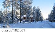 Зимняя дорога. Стоковое фото, фотограф Anna Marklund / Фотобанк Лори