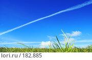 Купить «Белый след. White track.», фото № 182885, снято 2 сентября 2007 г. (c) Анатолий Теребенин / Фотобанк Лори