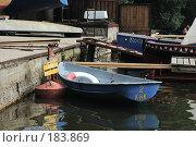 Купить «Лодка у причала», фото № 183869, снято 21 февраля 2019 г. (c) Елена Прокопова / Фотобанк Лори