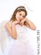 Купить «Девочка в костюме ангела», фото № 185181, снято 13 января 2008 г. (c) Евгений Батраков / Фотобанк Лори