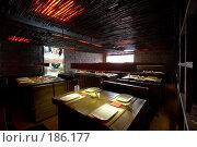 Купить «Ресторан японской кухни. Интерьер зала.», фото № 186177, снято 10 октября 2005 г. (c) Иван Сазыкин / Фотобанк Лори