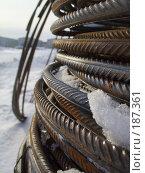 Купить «Арматура в снегу», фото № 187361, снято 26 января 2008 г. (c) Андрей Никитин / Фотобанк Лори