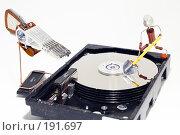 Купить «HDD ремонт жесткого диска или восстановление данных», фото № 191697, снято 11 декабря 2018 г. (c) Павел Савин / Фотобанк Лори