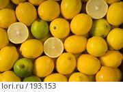 Купить «Влажные лимоны. Фон.», фото № 193153, снято 30 июля 2003 г. (c) Иван Сазыкин / Фотобанк Лори