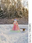 Купить «Фигура Деда Мороза из снега», фото № 194041, снято 4 февраля 2008 г. (c) Светлана Силецкая / Фотобанк Лори