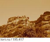 Купить «Монастырь Метеора. Греция», фото № 195417, снято 1 июля 2007 г. (c) Юлия Селезнева / Фотобанк Лори