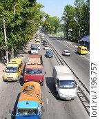 Купить «Пробка на дороге», фото № 196757, снято 1 января 2003 г. (c) Юлия Дашкова / Фотобанк Лори