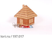 Купить «Домик с ключами , с кредитными картами», фото № 197017, снято 7 февраля 2008 г. (c) Лукьянов Иван / Фотобанк Лори