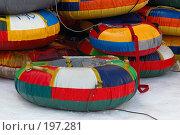 """Купить «""""Ватрушки"""" для катания с горки», фото № 197281, снято 2 февраля 2008 г. (c) Елена Прокопова / Фотобанк Лори"""