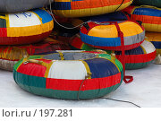 """Ватрушки"" для катания с горки (2008 год). Редакционное фото, фотограф Елена Прокопова / Фотобанк Лори"