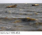 Купить «Рыбацкие лодки в Азовском море», фото № 199453, снято 25 мая 2018 г. (c) Игорь Струков / Фотобанк Лори