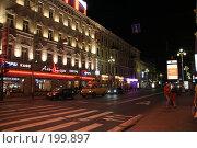 Купить «Ночные улицы Санкт-Петербурга», фото № 199897, снято 21 августа 2007 г. (c) Евгений Батраков / Фотобанк Лори