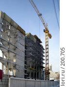 Купить «Строится высотное здание», фото № 200705, снято 12 февраля 2008 г. (c) Светлана Кириллова / Фотобанк Лори