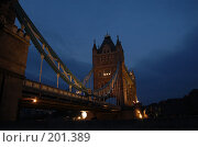 Купить «Тауэрский мост», фото № 201389, снято 4 ноября 2007 г. (c) Юлия Севастьянова / Фотобанк Лори
