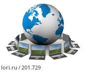 Купить «Глобальная сеть Интернет. Концептуальное изображение.», иллюстрация № 201729 (c) Ильин Сергей / Фотобанк Лори