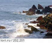 Купить «Волны о скалы...», фото № 202201, снято 14 ноября 2004 г. (c) Марина Бандуркина / Фотобанк Лори