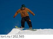 Купить «Прыжок сноубордиста», фото № 202565, снято 8 февраля 2008 г. (c) Талдыкин Юрий / Фотобанк Лори