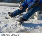 Зимняя рыбалка. Стоковое фото, фотограф Werin / Фотобанк Лори