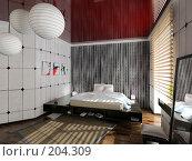 Купить «Современный интерьер спальни», иллюстрация № 204309 (c) Виктор Застольский / Фотобанк Лори