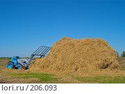 Купить «Стогоукладчик за работой», фото № 206093, снято 7 сентября 2004 г. (c) Иван Сазыкин / Фотобанк Лори