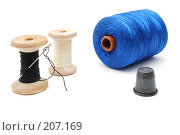 Купить «Три катушки ниток и наперсток», фото № 207169, снято 17 февраля 2008 г. (c) Валерий Александрович / Фотобанк Лори