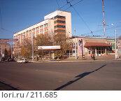 Гостиница и ресторан. Оренбург (2005 год). Редакционное фото, фотограф Игорь Квятковский / Фотобанк Лори