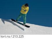 Купить «Прыжок сноубордиста», фото № 213225, снято 8 февраля 2008 г. (c) Талдыкин Юрий / Фотобанк Лори
