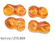 Купить «Четыре булочки с джемом, крупный план», фото № 215869, снято 5 марта 2008 г. (c) Угоренков Александр / Фотобанк Лори