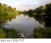 Купить «Пруд между деревьями», фото № 216117, снято 25 июня 2005 г. (c) Филин Константин / Фотобанк Лори