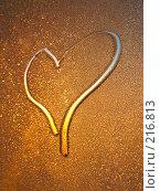 Купить «Сердце на замерзшем стекле», фото № 216813, снято 19 сентября 2018 г. (c) ElenArt / Фотобанк Лори