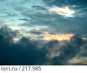 Купить «Вечернее небо», фото № 217985, снято 24 января 2020 г. (c) ElenArt / Фотобанк Лори