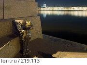Купить «Грифон на набережной Невы», эксклюзивное фото № 219113, снято 12 января 2007 г. (c) Александр Алексеев / Фотобанк Лори