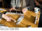 Игра маджонг. Стоковое фото, фотограф Argument / Фотобанк Лори