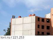Купить «Строительство жилья», фото № 221253, снято 20 августа 2007 г. (c) Евгений Батраков / Фотобанк Лори