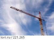 Купить «Строительный кран», фото № 221265, снято 20 августа 2007 г. (c) Евгений Батраков / Фотобанк Лори