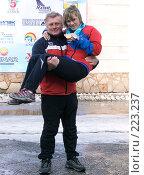 Купить «Чемпионка мира  по лыжному ориентированию Т. Власова  и тренер А. Власов», фото № 223237, снято 9 марта 2008 г. (c) Андрей Жданов / Фотобанк Лори