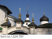 Купить «Дмитров. Позолоченные главки над вратами Борисоглебского монастыря», фото № 224781, снято 11 марта 2008 г. (c) Julia Nelson / Фотобанк Лори