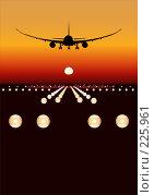 Купить «Самолет заходит на посадку», иллюстрация № 225961 (c) Александр Володин / Фотобанк Лори