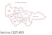 Купить «Карта административного деления Ханты-Мансийского Автономного Округа - Югры (в 1 см - 50 км при размере 1:1)», иллюстрация № 227453 (c) Елена Киселева / Фотобанк Лори