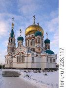 Купить «Омск. Возрожденный Успенский собор», фото № 228117, снято 8 января 2008 г. (c) Julia Nelson / Фотобанк Лори