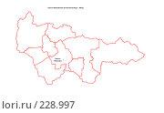 Купить «Карта административного деления Ханты-Мансийского Автономного Округа - Югры (без названий районов)», иллюстрация № 228997 (c) Елена Киселева / Фотобанк Лори